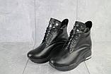 Женские ботинки кожаные зимние черные Emma Z -061, фото 4