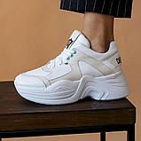Женские кроссовки кожаные весна/осень белые ANRI-de-colo 655/158, фото 3