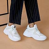 Женские кроссовки кожаные весна/осень белые ANRI-de-colo 655/158, фото 6