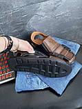 Мужские сандали кожаные летние черные-коричневые Bumer Premium 900, фото 2