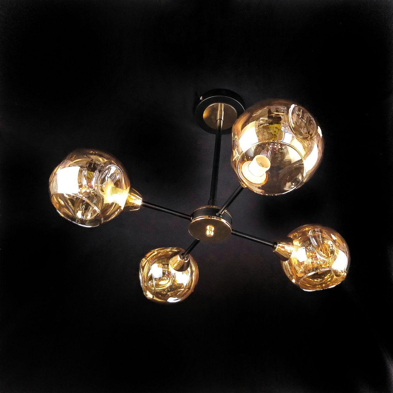 Люстра подвесная на 4 лампы 29-H089/4 BK+FGD