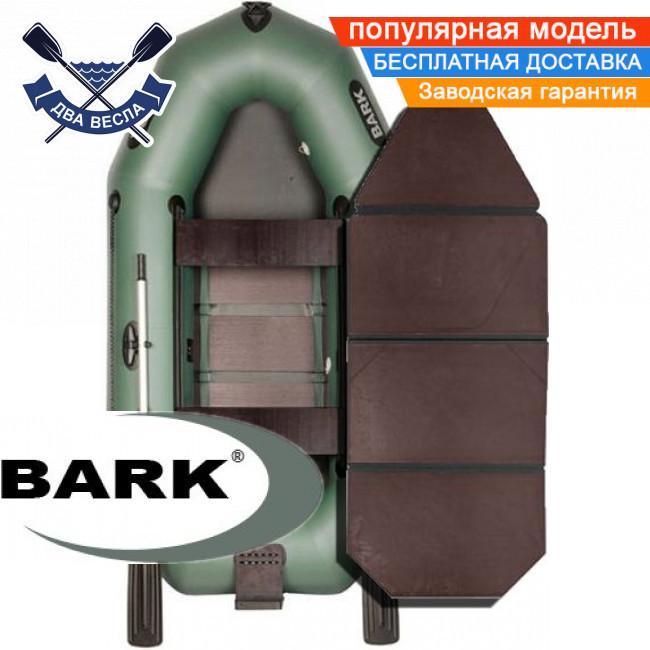 Надувний човен Барк В-250НДК гребний човен ПВХ Bark B-250NDK двомісна слань-книжка транец сдвижн сід