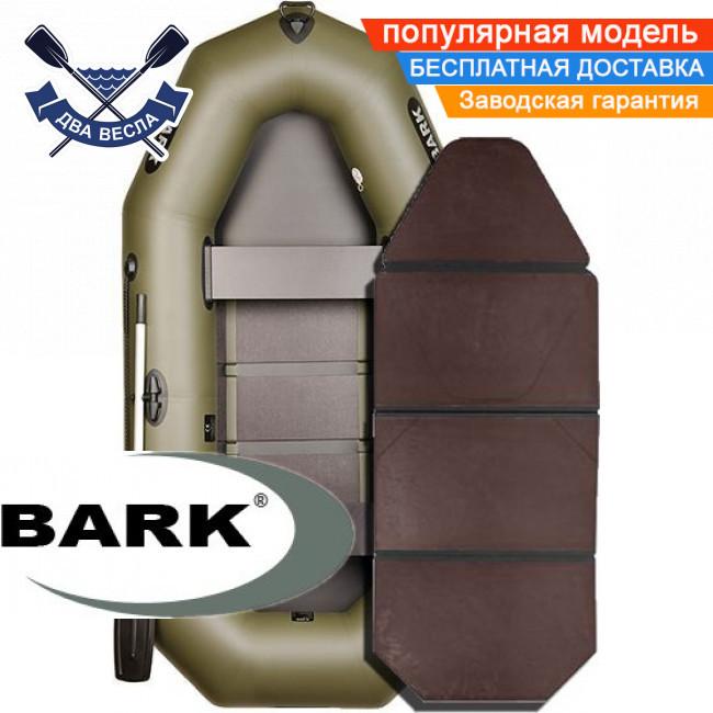 Надувная лодка Барк В-260К гребная лодка ПВХ Bark B-260K двухместная слань-книжка
