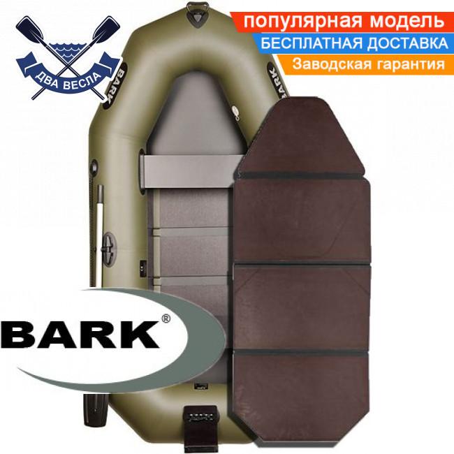 Надувний човен Барк В-260НПК гребний човен ПВХ Bark B-260NPK двомісна слань-книжка транец прівальнік