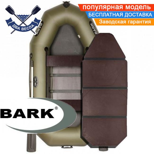 Надувная лодка Барк В-260ПДК гребная лодка ПВХ Bark B-260PDK двухместная слань-книжка брызгоотбойник
