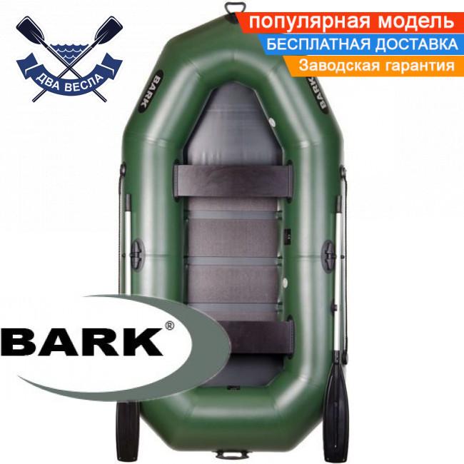 Надувний човен Барк В-270 гребний човен ПВХ Bark B-270 двомісна рейковий настил