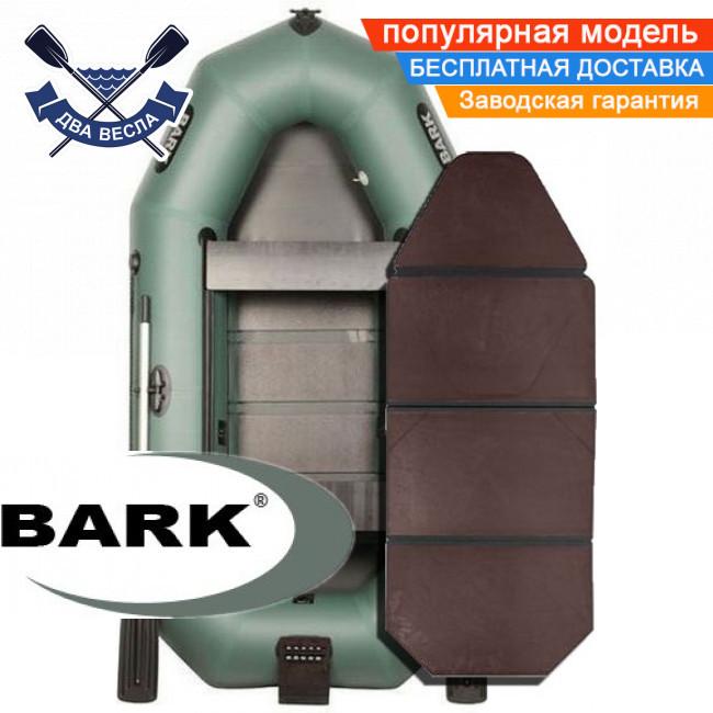 Надувная лодка Барк В-270НПДК гребная лодка ПВХ Bark B-270NPDK двухместная слань-книжка транец привальник
