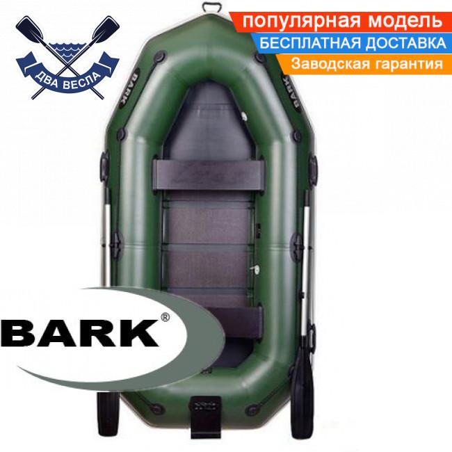 Надувний човен Барк В-НП гребний човен ПВХ Bark B-270NP двомісна рейковий настил транец брызгоотбойник