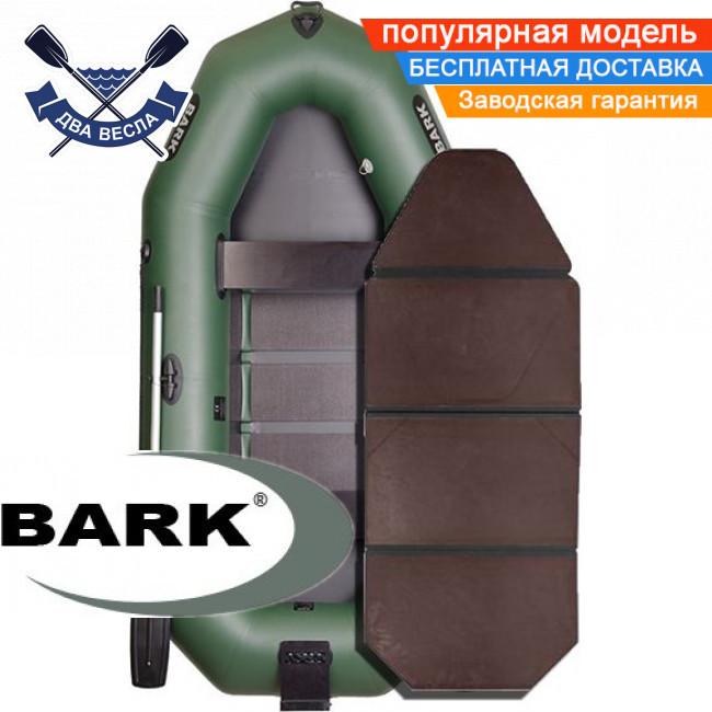 Надувний човен Барк В-280НК гребний човен ПВХ Bark B-280NK тримісна слань-книжка транец