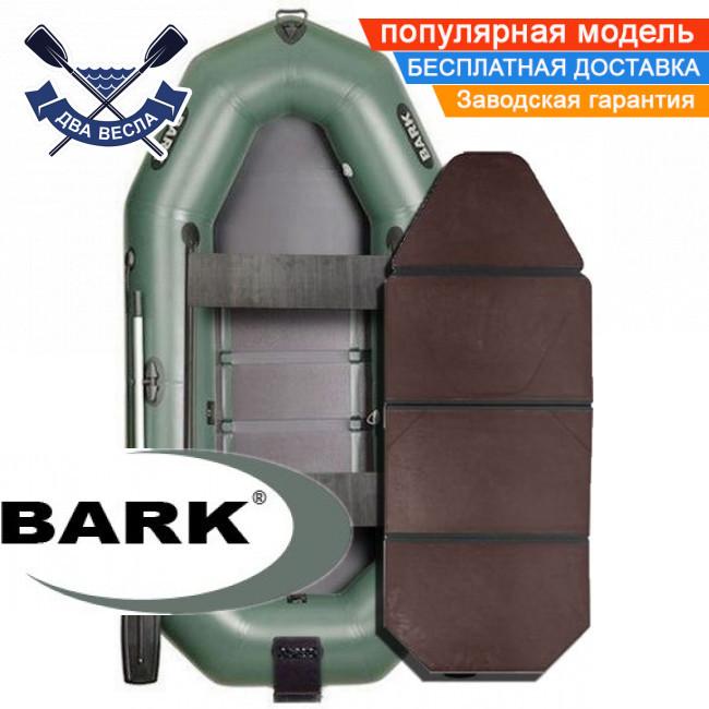 Надувний човен Барк В-280НДК гребний човен ПВХ Bark B-280NDK тримісна слань-книжка транец