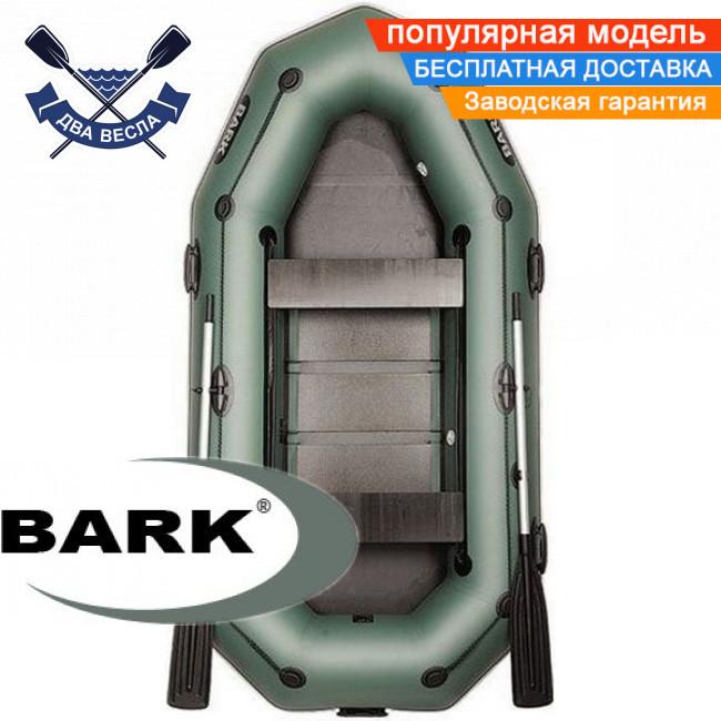 Надувний човен Барк В-280ПД гребний човен ПВХ Bark B-280PD тримісна рейковий настил брызгоотбойник