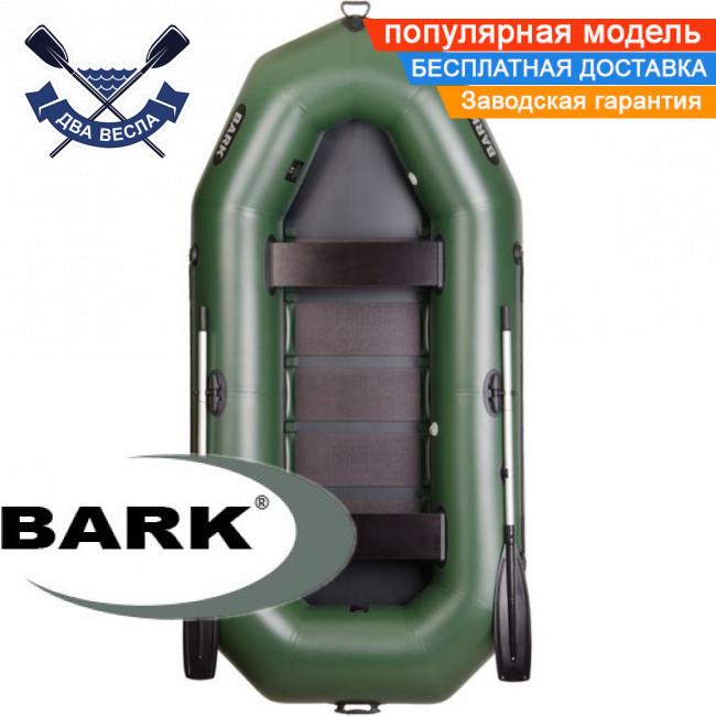 Надувная лодка Барк В-300 гребная лодка ПВХ Bark B-300 трехместная реечный настил