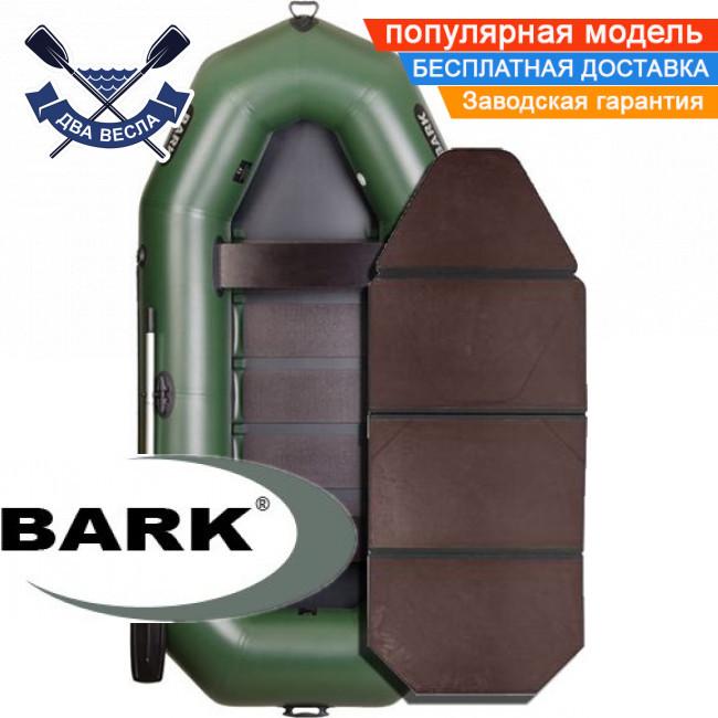 Надувная лодка Барк В-300К гребная лодка ПВХ Bark B-300K трехместная слань-книжка