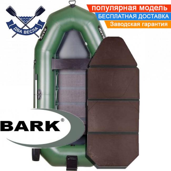 Надувний човен Барк В-300НПК гребний човен ПВХ Bark B-300NPK тримісна слань-книжка транец прівальнік