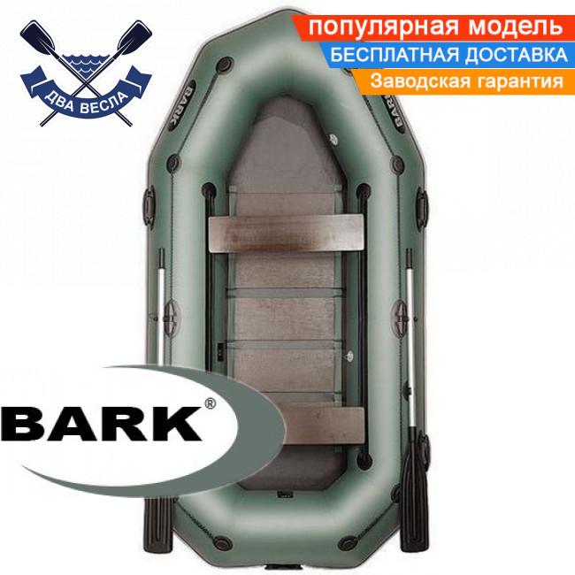 Надувний човен Барк В-300ПД гребний човен ПВХ Bark B-300PD тримісна рейковий настил брызгоотбойник