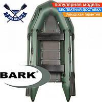 Моторная лодка Барк ВТ-290Д надувная лодка ПВХ Bark BT-290D двухместная лодка под мотор реечный настил