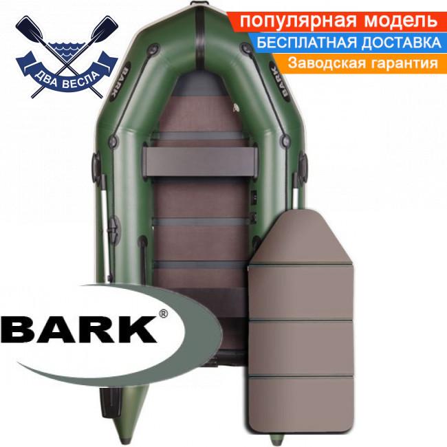 Моторная лодка Барк ВТ-290К надувная лодка ПВХ Bark BT-290K двухместная лодка под мотор пол-книжка