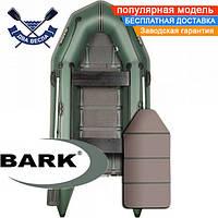 Моторная лодка Барк ВТ-290ДК надувная лодка ПВХ Bark BT-290DK двухместная лодка под мотор пол-книжка