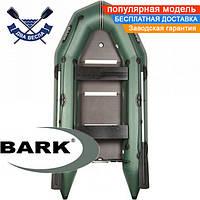 Килевая лодка Барк ВТ-290СД надувная лодка ПВХ Bark BT-290SD двухместная жесткое дно лодка с килем