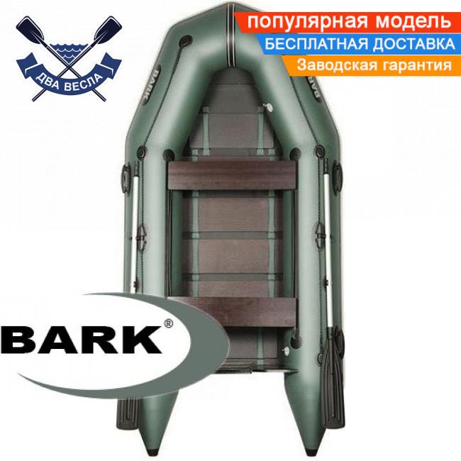 Моторний човен Барк ВТ-310Д надувний човен ПВХ Bark BT-310D тримісна човен під мотор рейковий настил