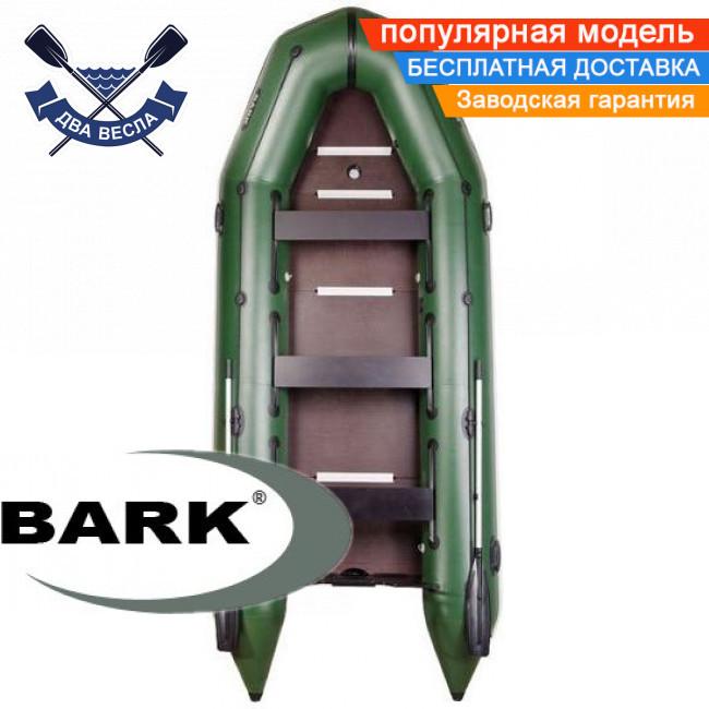 Килевая лодка Барк ВТ-450С надувная лодка ПВХ Bark BT-450S восьмиместная жесткое дно лодка с килем
