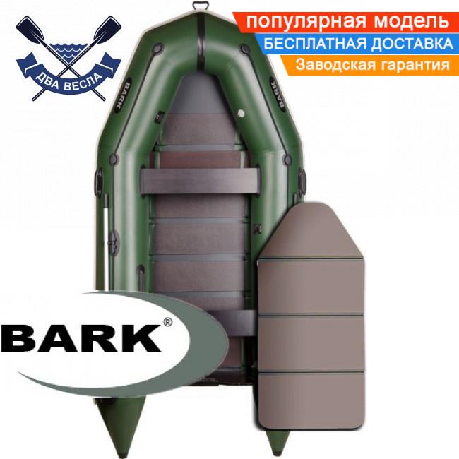 Моторная лодка Барк ВТ-330К надувная лодка ПВХ Bark BT-330K четырехместная лодка под мотор пол-книжка
