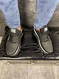 Мужские кроссовки кожаные весна/осень черные CrosSAV 413, фото 5