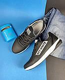 Мужские кроссовки кожаные весна/осень черные CrosSAV 413, фото 6