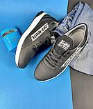 Мужские кроссовки кожаные весна/осень черные CrosSAV 413, фото 7