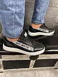 Мужские кроссовки кожаные весна/осень черные CrosSAV 399-ч, фото 7