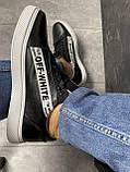 Мужские кроссовки кожаные весна/осень черные CrosSAV 399-ч, фото 8