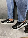 Мужские кроссовки кожаные весна/осень черные CrosSAV 399-ч, фото 9