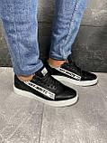 Мужские кроссовки кожаные весна/осень черные CrosSAV 399-ч, фото 10