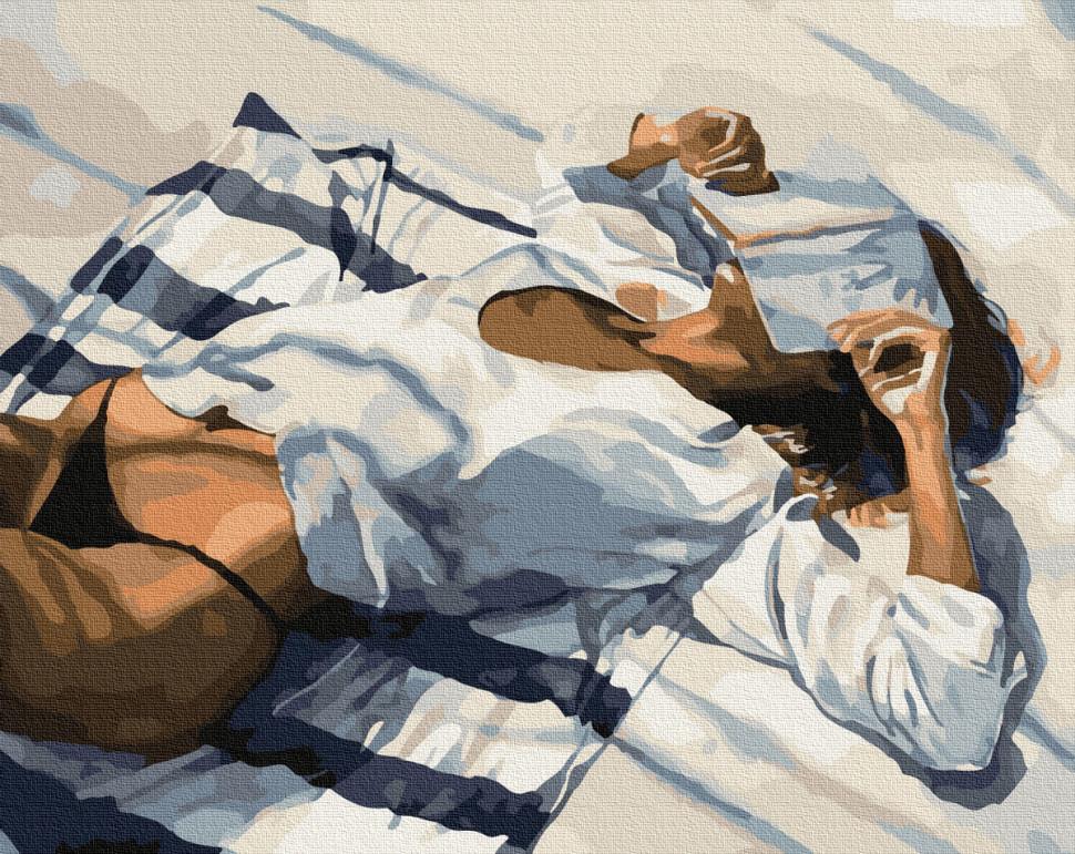 """Картина по номерам. Brushme """"Пляжный отдых"""" GX34193"""