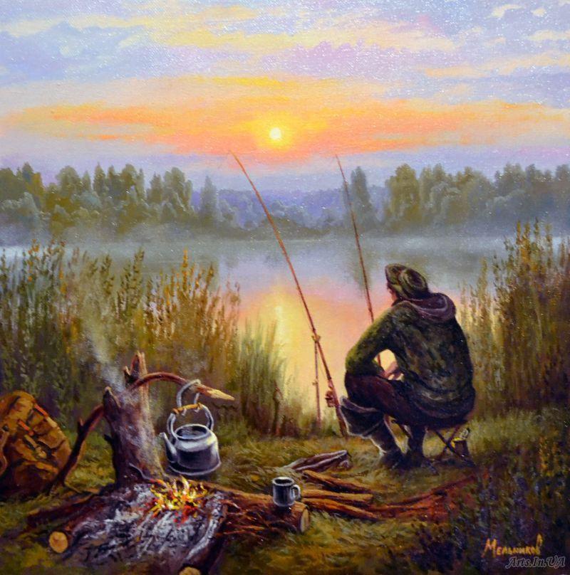 """Картина по номерам """"Отдыхая у реки""""  KHO2241"""