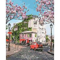 """Картина по номерам. Городской пейзаж """"Французское путешествие"""" 40*50см * KHO3500"""