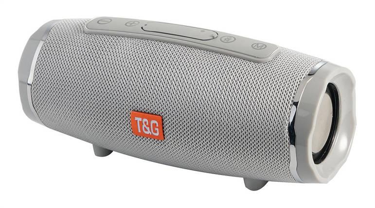 Портативная bluetooth колонка T&G TG-145 (Серая), фото 2