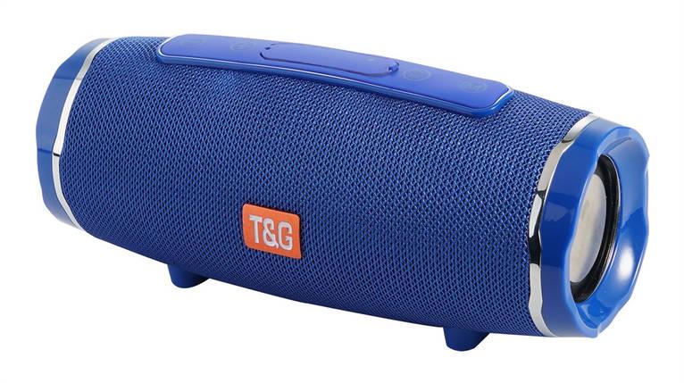 Портативная bluetooth колонка T&G TG-145 (Синий), фото 2