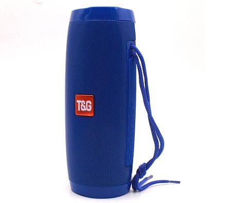 Портативная bluetooth колонка T&G TG-157 с подсветкой (Синий), фото 2