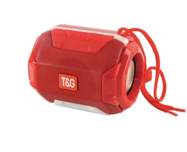 Портативная bluetooth колонка T&G TG-162 с подсветкой (Красный)