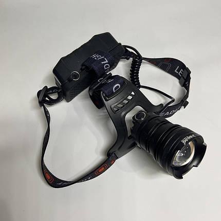 Аккумуляторный налобный фонарь BL-008 P50, фото 2