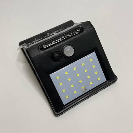 Настенный уличный светильник Solar motion sensor Light солнечная батарея, датчик движения, фото 2
