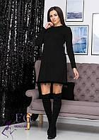 """Платье теплое черного цвета свободного кроя """"Galaxy"""" арктика"""