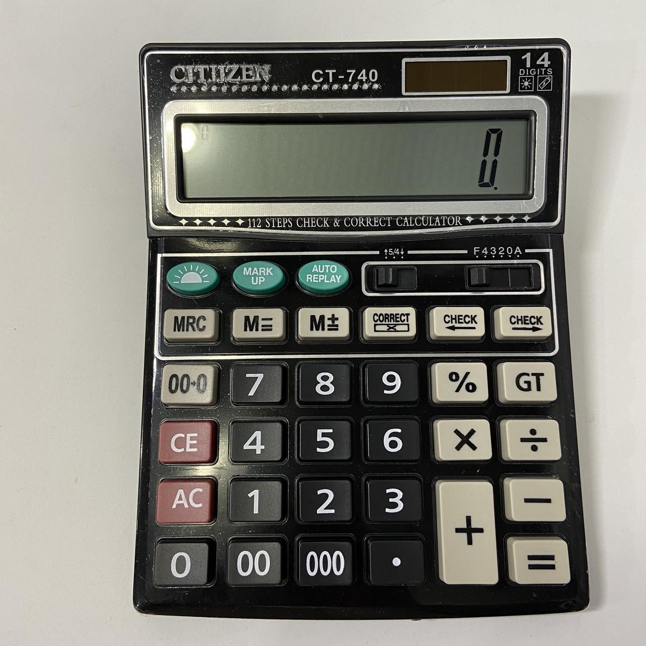 Настольный калькулятор Citizen CT-740