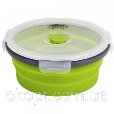 Пищевой контейнер Tramp складной с крышкой-защелкой 800ml (TRC-087-olive)