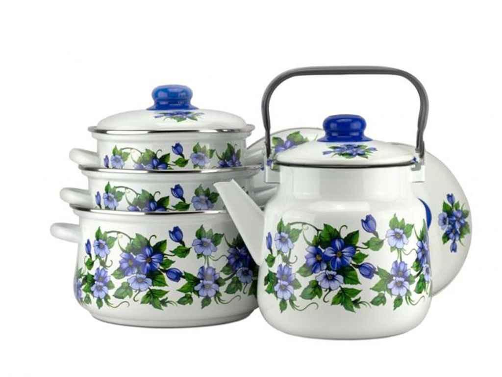 Набор эмалированной посуды Эмаль Забава 4 предмета (№7-307/6)