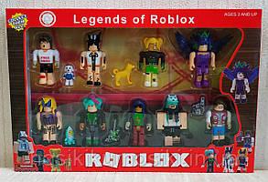 Фигурки героев компьютерной игры RobloxPS1831 Роблокс - 9 героев, животные, аксессуары