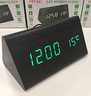 Электронные настольные часы-будильник Led Wood Clock VST-861 Часы-настольные в Украине
