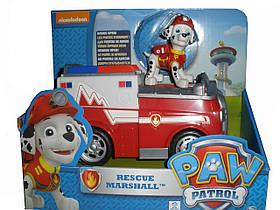 Маршал спасатель, Щенячий патруль: спасательный автомобиль с фигуркой, PAW Patrol (SM16601-12)