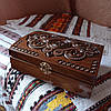 Шкатулка дерев'яна різьблена 21*15 для прикрас, ручна робота, фото 5